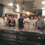 Team with chef de partie's family