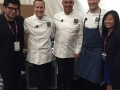Emcee Billy Harris, Chef Philip Tessier, Chef Jerome Bocuse, Chef Mathew Peters, Executive Director Young Yun