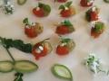 Crispy Green Almonds, Romesco and Flowering Basil