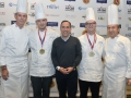 Young Chef Paris Dreibelbis with Chefs Keller, Boulud and Michael Fabbro of Ora King_Photo_Credit_BryanSteffy