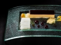 Chef Mourad Lahlqu = Foie Gras, Huckleberry, Daikon, Burnt Honey and Chestnut -Anthony Mair