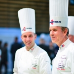 Thomas Keller, with Dan Olson, coach for the Canadian candidate.