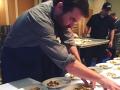 Chef Andrew Wiseheart with Norwegian Mackerel