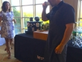 Chef Omar Flores drinking Nespresso