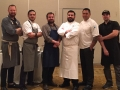 L-R: Chefs K.Fink, D.Galicia, A. Wiseheart, A.Natera, J.Peraza, O.Flores