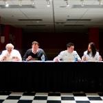 Gabriel Kreuther, Andrew Friedman, Gavin Kaysen, and Monica Bhambhani